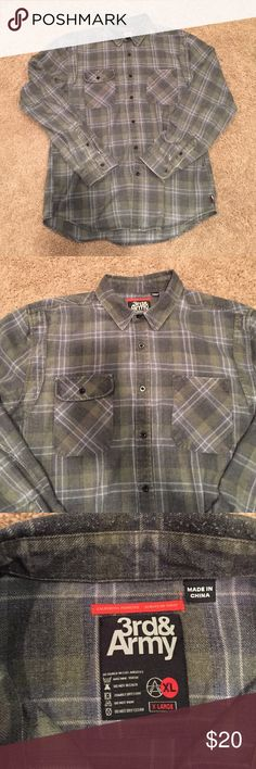 3rd & Army flannel button down Size XL Flannel Nordstrom Shirts Casual Button Down Shirts