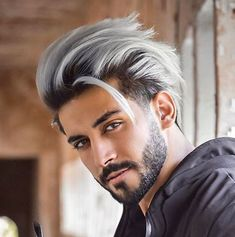 100 Trending Haircuts for Men (Haircuts for – Beauty Hacks White Hair Men, Silver Hair Men, Silver White Hair, Dyed Hair Men, Men Blonde Hair, Platinum Blonde Hair Men, Blonde Brunette, Hair And Beard Styles, Short Hair Styles