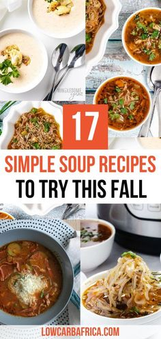 It's officially soup weather! Nothing beats just cuddling up on the sofa with a bowl of delicious, hearty, warm, savory soup. It just makes everything feel better. | low carb foods | simple dinner ideas | warm soups for fall | fall dinner ideas | soup recipes | easy soup recipes | warm and cozy | comfort food | comfort food dinner | soup weather #souprecipes #healthydinners #fallmealideas #lowcarbsoups