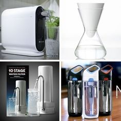 Beyond Water Pitchers: 4 New Ways to Filter Tap Water - Loved the Kor Nava Hydration Vessel for $30 replace titer every 3 months $5/filter. Kept in mind the Zerowater test. Must research some more.