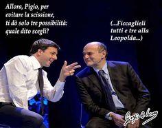 """Renzi ha solo tre dita da far scegliere a Bersani """"Fermatevi"""". È questo l'appello che l'ex segretario del Partito democratico, Pier Luigi Bersani, lancia a Matteo Renzi e ai suoi sostenitori in una lettera pubblicata dall'Huffington Post. """"Non date  #bersani #pd #renzi"""