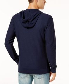 American Rag Men's Full-Zip Hoodie, Created for Macy's - Blue 2XL