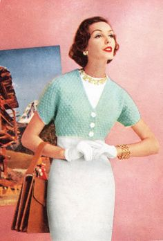 1950's HugMeTight Shrug  Pattern Crochet Bolero by PearlShoreCat, $2.95
