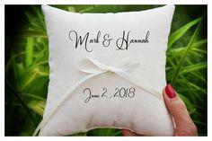 Personalized Ring bearer pillow Wedding ring pillow  wedding