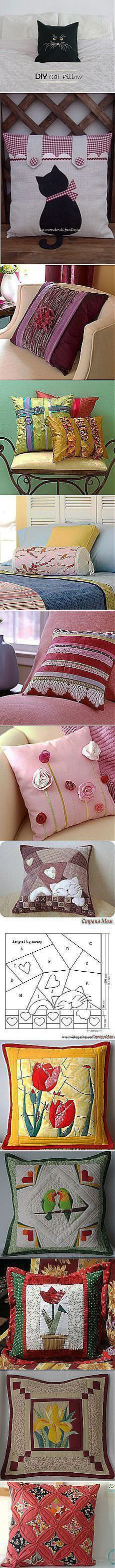 postila.ru Sewing Pillows, Diy Pillows, Decorative Pillows, Cushions, Quilt Patterns, Sewing Patterns, Sewing Crafts, Sewing Projects, Patchwork Pillow