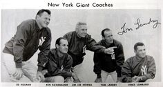 New York Giants coaches, 1956.