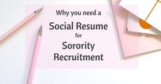 Social resume, Sorority recruitment, Sorority, Recruitment, Resume, Education information - What is a Social Resume  Why do you need one for Sorority Recruitment    How is it different from a professi -  #Socialresume