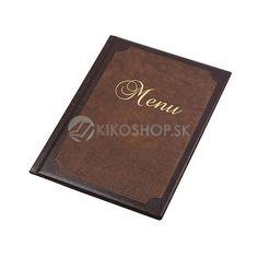 PANTA PLAST obal na jedálne lístky - s efektom kože, s rámom, hnedá-tmavohnedá, A4   Kikoshop