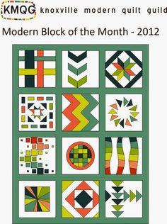 Knoxville Modern Quilt Guild: Modern BOM 2012