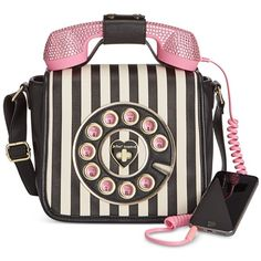 Betsey Johnson Phone Crossbody with Rhinestones ($108) ❤ liked on Polyvore featuring bags, handbags, shoulder bags, stripe, betsey johnson handbags, cell phone crossbody, crossbody purses, betsey johnson crossbody and special occasion handbags