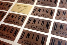 Go Natural with  Wooden Business Cards