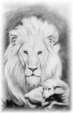 Lion and the Lamb illustration by Michael B. Alten