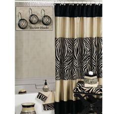 27 best zebra print bathrooms images on pinterest zebra print rh pinterest com Shower Curtain Sets Animal Prints Leopard Print Bathroom Decor