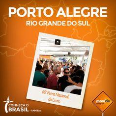 Que tal um passeio cultural? De 31 de outubro a 16 de novembro, acontece a 60º Feira Nacional do Livro em Porto Alegre.