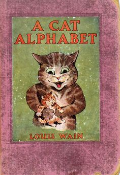 """A CAT ALPHABET - """"H"""" and """"I"""" are not here."""