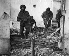 Brave British Paratroops at Osterboek, Holland, September 1944, in the battle for Arnhem