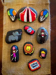Circus Story Stones by starrygirlb on Etsy