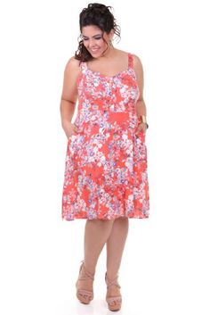 VESTIDO PLUS ESTAMPADO | Kauê Plus Size