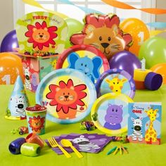This is for a 1st birthday but the plates, cups, and napkins do not have the number 1 on them.