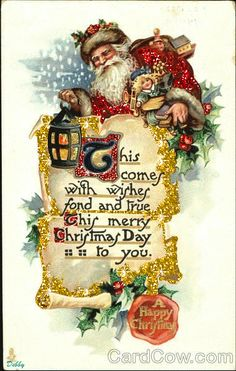 Santa Claus list. I added glitter to it. DF,