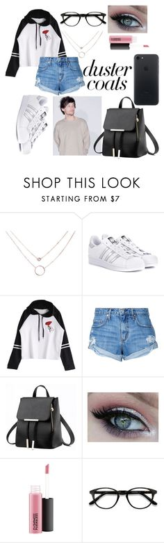 """""""Louis Tomlinson (duster coals)"""" by dicece ❤ liked on Polyvore featuring adidas Originals, Nobody Denim and EyeBuyDirect.com"""