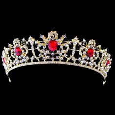 Gold Plated Luxury Wedding Veils Crowns Bridal Crystal Princess Tiara Queen Pageant Prom Rhinestone Hair Accessories For Women(China (Mainland))