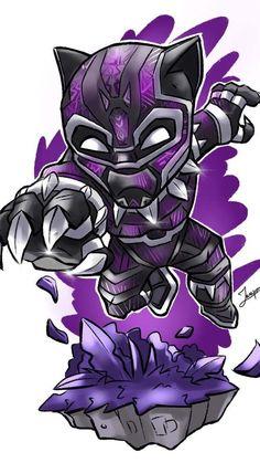 Black Panther Purple Suit Art iPhone Wallpaper - iPhone Wallpapers
