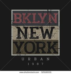 Vector illustration on the theme in New York City, Brooklyn. Vintage design. Grunge background. Stamp typography, t-shirt graphics, poster, print; postcard