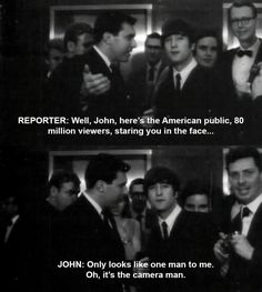 When John took things too literally. | 17 Times The Beatles Were Actually Hilarious