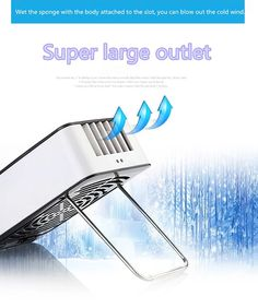 YWILLINK USB Handheld Bladeless Fan Cooling Mini Rechargeable Portable Quiet for Travel Office