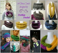 Cowls make the perfect gift, one size fits all patterns.  14 Free cowl and infinity scarf patterns.