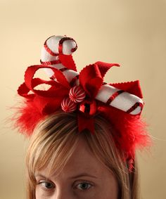 Look at this #zulilyfind! Candy Cane Headband by Bethany Lowe Designs #zulilyfinds