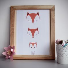 Etsy - Shop for handmade, vintage, custom, and unique gifts for everyone Fox Illustration, Family Illustration, Adventure Nursery, Family Painting, Publication Design, Fox Art, Beautiful Drawings, Illustrations Posters, Kids Room