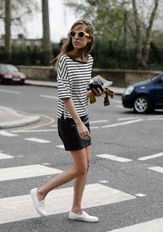 Simple stripes. Via la cool & chic, source: bertabernad.com/london-pop/