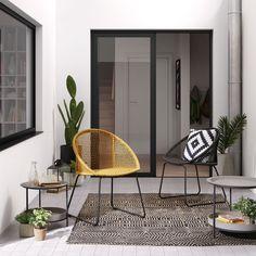 Kave Home Silla Sandrine negro , en Tejido,Metal - Negro,Gris Balcony Design, Patio Design, Home Decor Furniture, Home Decor Bedroom, Minimal House Design, Hot Tub Garden, Hygge Home, House Plants Decor, Deco Design