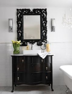Of Things Past...: Repurposing Furniture Into Bathroom Vanities