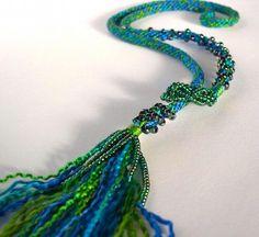 Beaded Lariat Kit - Love this colour Monet! #kumihimo $52.50