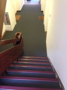 Installing Carpet With Nosings To Commercial Stairwell · StairsCommercial Carpets