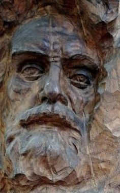 Wood Carving Faces, Wood Carving Art, Wood Art, Whittling Wood, 3d Wallpaper For Walls, Tree People, Woodcarving, Caricature, Garden Art