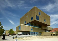 golden library in Copenhagen by architects COBE and Transform