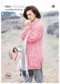 Sweater and Cardigan in Rico Essentials Alpaca Blend Chunky - 645 - Downloadable PDF. Discover more patterns by Rico at LoveKnitting. The world's largest range of knitting supplies - we stock patterns, yarn, needles and books from all of your favourite br