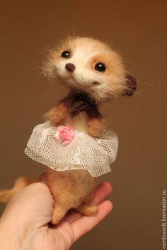 Adorable needle felted toy / Купить или заказать Агата в интернет-магазине на Ярмарке Мастеров. Сухое валяние на каркасе,глазки из бусин агата Работа в…