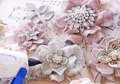 What Happens Next: glass glitter on all sides and edges with slightly diluted tacky glue   via Jane Hansen