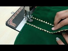 In this Video, I am going to make Easy and Stylish Neck Design with Gotta Patti Lace. You can make this Neck Design for your Kurti/Kameez at home. Chudidhar Neck Designs, Neck Designs For Suits, Neckline Designs, Dress Neck Designs, Sleeve Designs, Hand Embroidery Dress, Embroidery Neck Designs, Hand Embroidery Videos, Embroidery Stitches