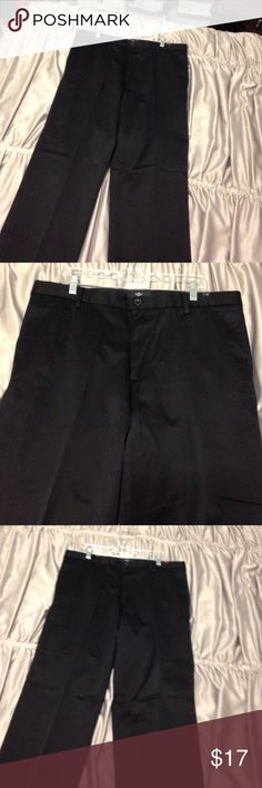 Dockers – 100% cotton Black dockers – size 38 x 32 Dockers – 100% cotton Black signature khaki flat front dockers – size 38 x 32. NWOT. These are really beautiful! Dockers are a Levi Strauss and Company product. Machine washable. Dockers Pants Chinos & Khakis