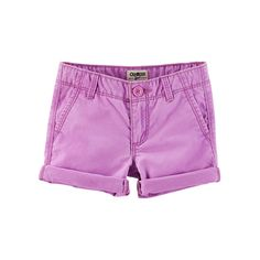 Toddler Girl OshKosh B'gosh® Neon Roll-Cuff Shorts, Size: 5T, Purple