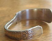 Knife Bracelet Cuff -Upcycled Silverware Jewelry Vintage Silverplate
