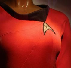 Lt. Uhura Uniform, screen used costume, neckline detail.