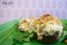 Cheese Stuffed Mushrooms - Della Rose Living