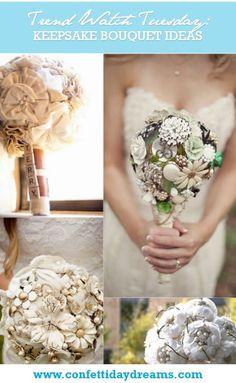 Fabric Bouquets Button Bouquets Keepsake Bouquets